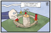 Cartoon: Erster Advent (small) by Kostas Koufogiorgos tagged karikatur,koufogiorgos,illustration,cartoon,advent,dynamit,kerze,flüchtlingsdeal,adventskranz,explosiv