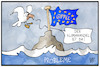 Cartoon: EU-Gipfel (small) by Kostas Koufogiorgos tagged karikatur,koufogiorgos,illustration,cartoon,eu,gipfel,probleme,europa,klimawandel,wasser,meer