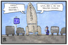 Cartoon: Falcon 9 (small) by Kostas Koufogiorgos tagged karikatur,koufogiorgos,illustration,cartoon,spacex,falcon,rakete,parken,einparken,politesse,parkplatz,raumfahrt,verkehr,gesetz,kontrolle