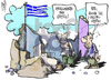Cartoon: general strike in greece (small) by Kostas Koufogiorgos tagged strike,greece,austerity,plan,troika,unions,apergia,litotita,gsee,adedy