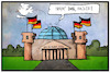 Cartoon: Hackerangriff (small) by Kostas Koufogiorgos tagged karikatur,koufogiorgos,illustration,cartoon,bundeshack,cyber,angriff,brieftaube,kommunikation,internet,it,technologie,technik,bundestag,reichstag,berlin,außenministerium,hacker,cyberkrieg