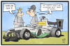 Cartoon: Nico Rosberg (small) by Kostas Koufogiorgos tagged karikatur,koufogiorgos,illustration,cartoon,nico,rosberg,formel,eins,rennsport,motorsport,hamilton,karriereende