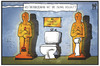 Cartoon: Oscar-Verleihung (small) by Kostas Koufogiorgos tagged karikatur,koufogiorgos,illustration,cartoon,bischof,bischofssitz,toilette,bad,oscar,protz,prunk,religion,limburg,verschwendung,diebstahl,academy,award,film,preis,trophäe,hollywood