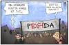 Cartoon: Pegida gibt Antworten (small) by Kostas Koufogiorgos tagged karikatur,koufogiorgos,illustration,cartoon,günther,grass,pegida,asylant,vorurteil,schuldiger,schuld,demonstration,populismus