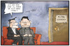 Cartoon: Russische  Hilfe (small) by Kostas Koufogiorgos tagged karikatur,koufogiorgos,illustration,cartoon,russland,nordkorea,griechenland,tsipras,kim,jong,un,wartezimmer,finanzhilfen,kredit,wirtschaft,bilateral,politik,politiker,staatschef,diktator