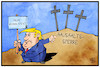 Cartoon: Shutdown in den USA (small) by Kostas Koufogiorgos tagged karikatur,koufogiorgos,illustration,cartoon,usa,trump,shutdown,haushalt,sperre,weihnachten,kreuz,begräbnis