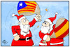Cartoon: Spanien-Katalonien (small) by Kostas Koufogiorgos tagged karikatur,koufogiorgos,illustration,cartoon,spanien,katalonien,weihnachten,weihnachtsmann,konflikt,separatismus,europa,wahlausgang,demokratie