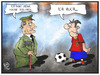 Cartoon: Spaniens Krone (small) by Kostas Koufogiorgos tagged illustration,cartoon,koufogiorgos,karikatur,spanien,fussball,juan,carlos,könig,abdankung,krone,wm,weltmeisterschaft,monarchie,sport,politik,thronwechsel