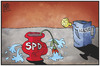 Cartoon: SPD-Klausur (small) by Kostas Koufogiorgos tagged karikatur,koufogiorgos,illustration,cartoon,spd,klausur,blume,vase,leck,krise,partei,politik,tagung