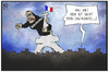 Cartoon: Terror in Paris (small) by Kostas Koufogiorgos tagged karikatur,koufogiorgos,illustration,cartoon,terror,terrorismus,gorilla,eiffelturm,dschungel,verteidigung,frankreich
