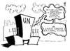 Cartoon: UN (small) by Kostas Koufogiorgos tagged un,vereinte,nationen,syrien,fernseher,tv,fussball,em,bürgerkrieg,assad,karikatur,kostas,koufogiorgos