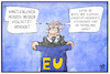 Cartoon: Whistleblower (small) by Kostas Koufogiorgos tagged karikatur,koufogiorgos,illustration,cartoon,eu,whistleblower,schutz,waffen,lobby,rüstung
