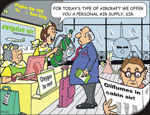 Cartoon: Care (medium) by JotKa tagged boarding,in,check,nausea,airlines,manufacturers,aircraft,to,solution,problems,oxygen,flightcrew,cabin,cockpit,cruise,engines,travel,airports,holiday,flying,policy