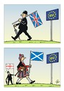Cartoon: By by Great Britain ? (small) by JotKa tagged brexit,referendum,britain,england,eu,europäische,union,brüssel,parlament,cameron,politik,bündnisse,verträge,austritte,schottland,beitritt,great,grossbritannien,wales