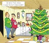 Cartoon: The Christmastree (small) by JotKa tagged christmas xmas holiday presents christmaseve christmasparty christmastree xmastree