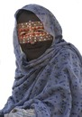 Cartoon: Protesta in Burqa (small) by azamponi tagged politics,religion,italy,world