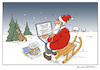 Cartoon: santa claus online (small) by Micha Strahl tagged micha strahl weihnachtsmann online santa claus