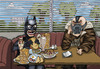 Cartoon: Batman and Bane (small) by maxardron tagged batman,bane,darkknight,dark,knight,rises,darkknightrises,christopher,nolan,dccomics,superhero