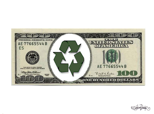Cartoon: GREEN ECONOMY (medium) by CIGDEM DEMIR tagged financal,dolar,usa,money,tree,economy,green