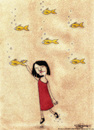 Cartoon: A Dream Scene (small) by CIGDEM DEMIR tagged fish,dream