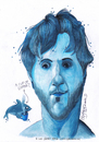 Cartoon: Alex in Blue (small) by CIGDEM DEMIR tagged alex,guma,bondia,caricature