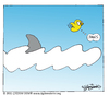 Cartoon: JAWS (small) by CIGDEM DEMIR tagged cigdem,demir,bird,jaws