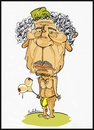 Cartoon: Gaddfi (small) by Babak Mo tagged gaddafi,cartoon,babak,karikatures
