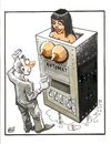 Cartoon: Milk machine (small) by Dluho tagged love