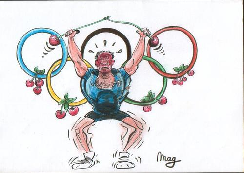 Cartoon: Fruitolympics (medium) by Maggy tagged olympics,humor,cartoon