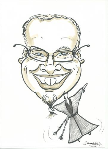 Cartoon: portrait 1-competition (medium) by Maggy tagged competition,bookstore,portrait,caricature