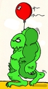 Cartoon: monster (small) by talbiez tagged monster,ballon,grn
