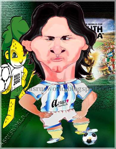 Cartoon: Lionel messi (medium) by asrus tagged footballer