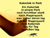 Cartoon: Kakerlak in Park (small) by Marbez tagged kakerlak,park,ernährung