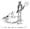 Cartoon: Last question (small) by Paulus tagged death