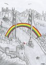 Cartoon: istanbul (small) by emraharikan tagged istanbul
