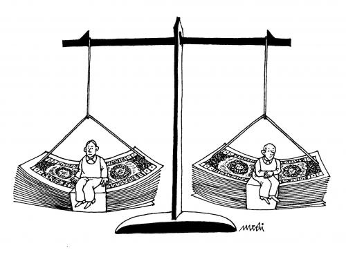 Cartoon: Corrupted Justice (medium) by Medi Belortaja tagged justice,corrupted,money