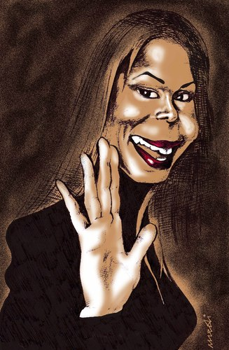 Cartoon: janet jackson (medium) by Medi Belortaja tagged jackson,janet