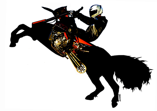 Cartoon: motohorse (medium) by Medi Belortaja tagged horse,motocuclism,motocyclist,motocycle