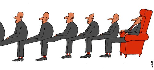 Cartoon: natural chairs (medium) by Medi Belortaja tagged chair,chairs,power,politicians,buroucracy,men,chef,head,hierarchy