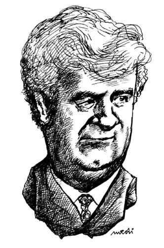 Cartoon: Radovan Karadzic (medium) by Medi Belortaja tagged radovan,karadzic
