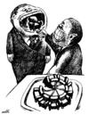 Cartoon: cakes with power (small) by Medi Belortaja tagged cakes,chair,power,politicians,politics