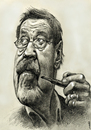 Cartoon: Günter Grass (small) by Medi Belortaja tagged günter grass nobel prize writer