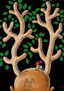 Cartoon: love for the trees (small) by Medi Belortaja tagged love for the trees