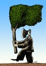Cartoon: paradoxical flag (small) by Medi Belortaja tagged paradoxical flag tree environment ax