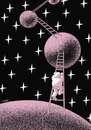 Cartoon: planet explorations (small) by Medi Belortaja tagged planet,astronaut,exploration,discovery