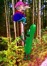 Cartoon: Zen in the forest (small) by Medi Belortaja tagged zen,in,the,forest