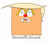 Cartoon: Le Mac (small) by Riemann tagged donald,trump,ronald,mcdonald,mc,donalds,president,of,the,united,states,america,clown,junk,food,cheap,populist,amerika,square,orange,cartoon,george,riemann
