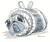 Cartoon: Rollmops (small) by Riemann tagged hund mops wortspiel rollmops fisch essen tier