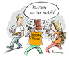 Cartoon: Vegetaria (small) by Riemann tagged vegetarier,scharia,polizei,religion,sekten,minderheiten,ordnungshueter,glauben,bratwurst,cartoon,george,riemann