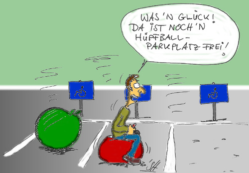 Cartoon: parkplatz (medium) by SHolter tagged parkplatz